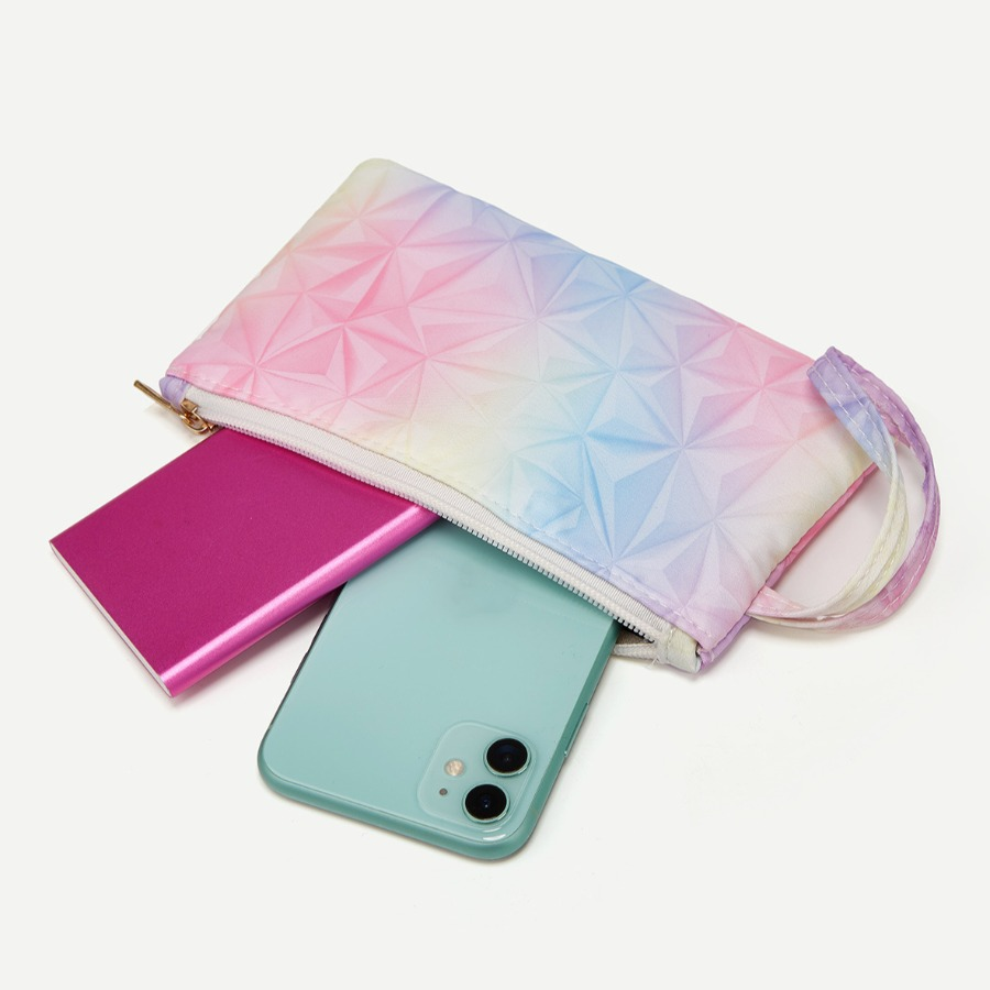 Lovely Casual Gradient Multicolor Purse