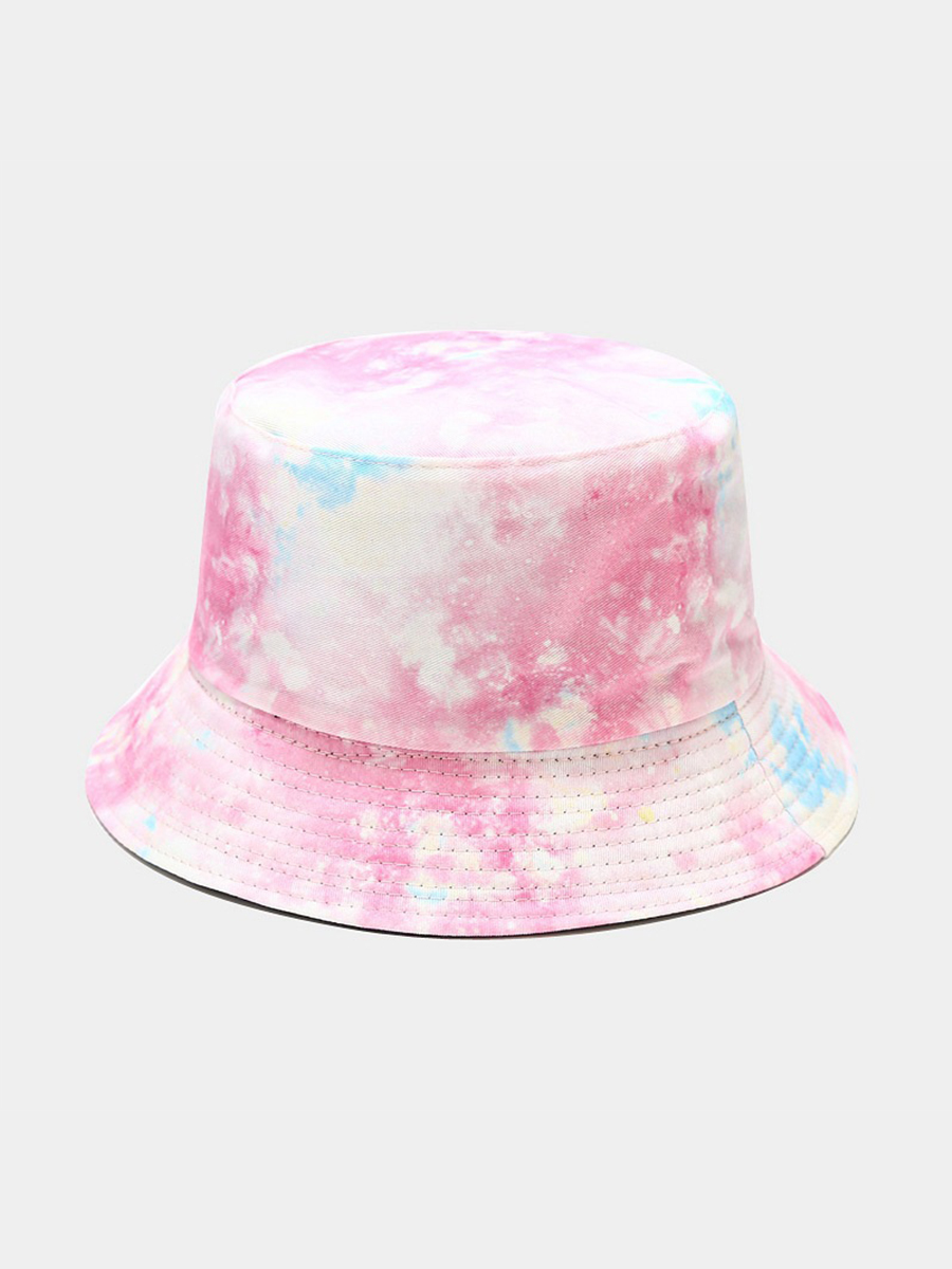 LW COTTON Casual Tie-dye Pink Hat