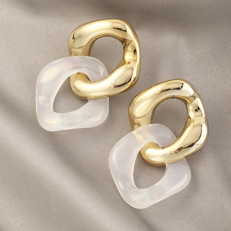 Lovely Casual Hollow-out White Earring