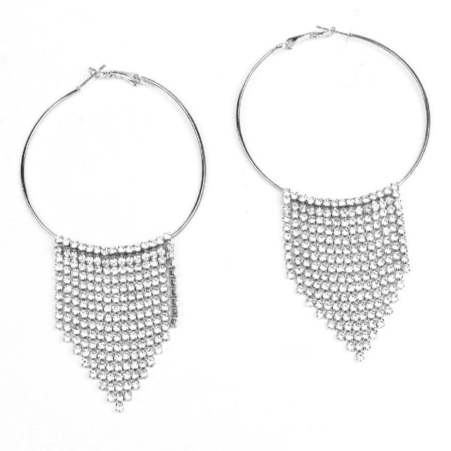 LW SXY Tassel Design Silver Earring