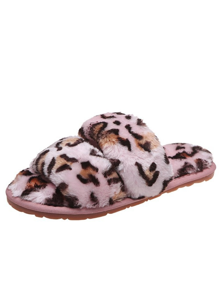 LW Casual Leopard Print Pink Slippers