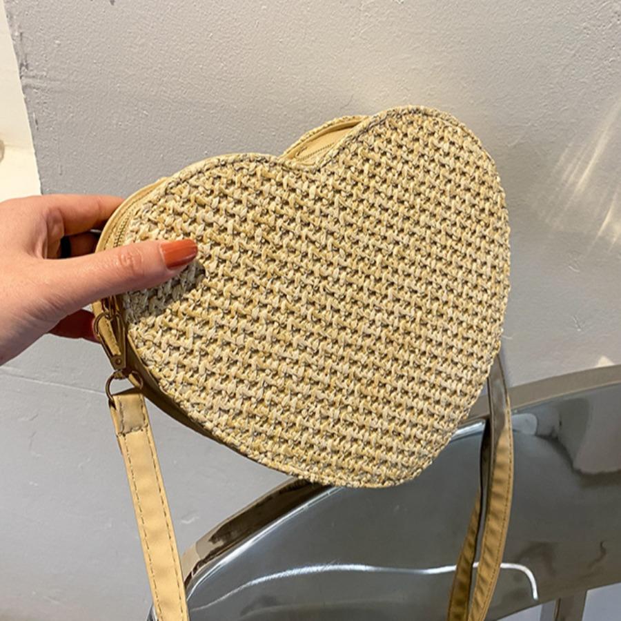 Lovely Casual Heart-shaped Khaki Crossbody Bag