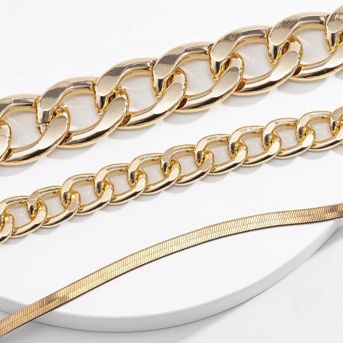 LW Street Snake Bone Gold Multilayer Body Chain
