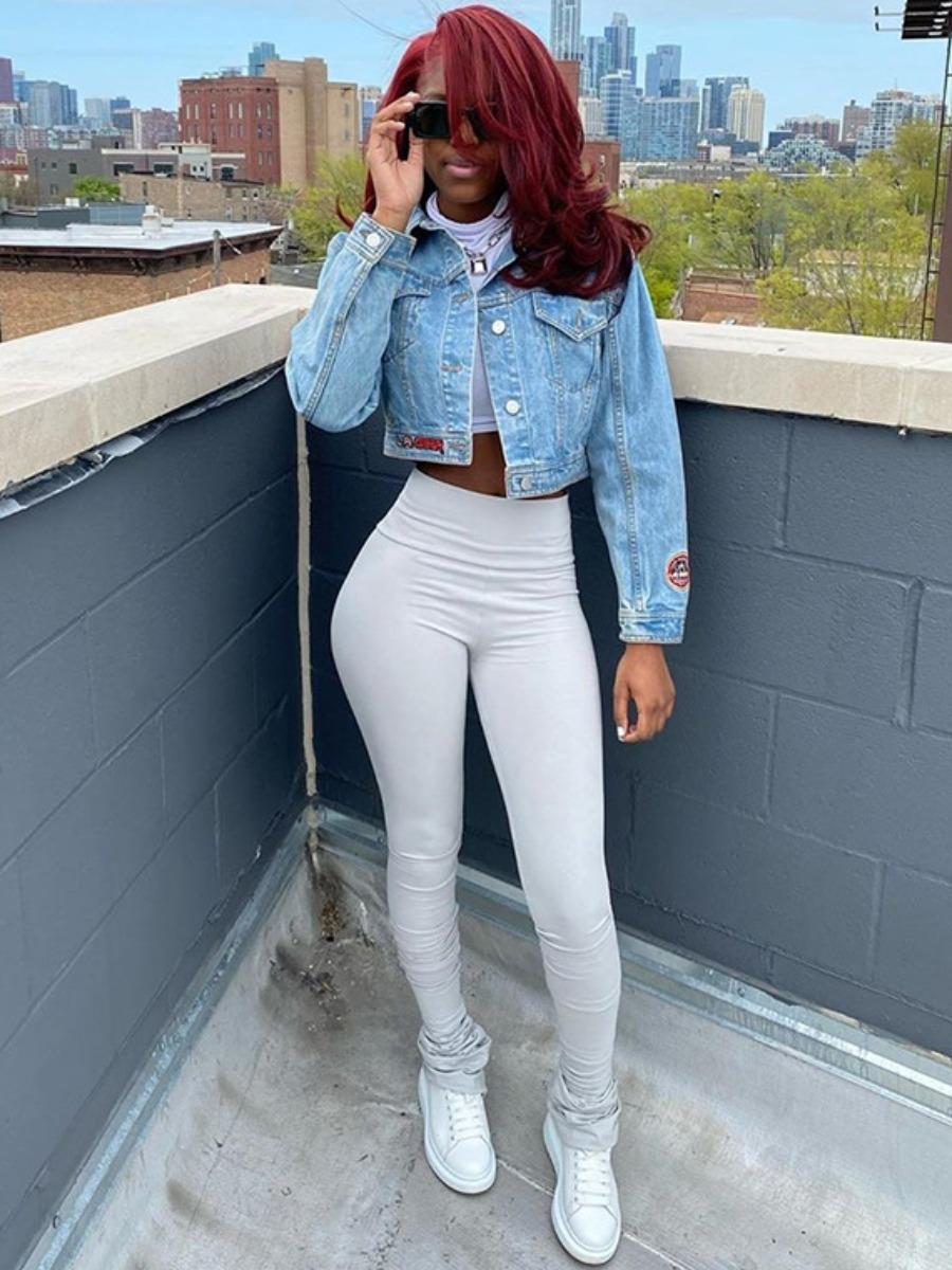 LW BASIC Casual High-waisted Fold Design Grey Pants