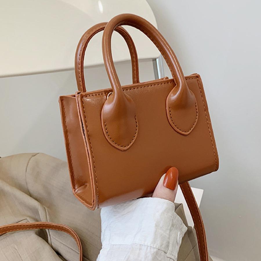 LW Casual Rectangular Brown Messenger Bag
