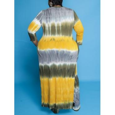 LW Plus Size Tie-dye Split Two-piece Pants Set