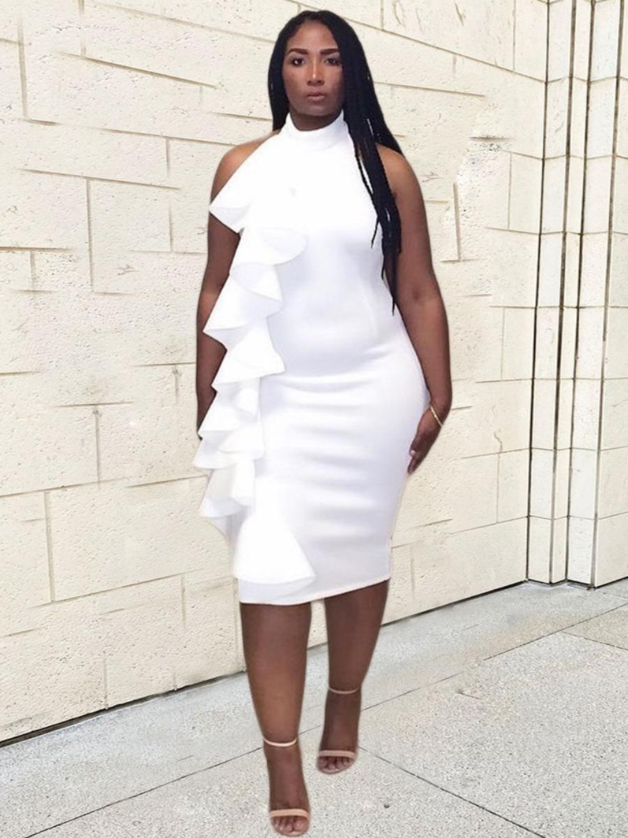 LW Backless Flounce Design Slit Prom Dress