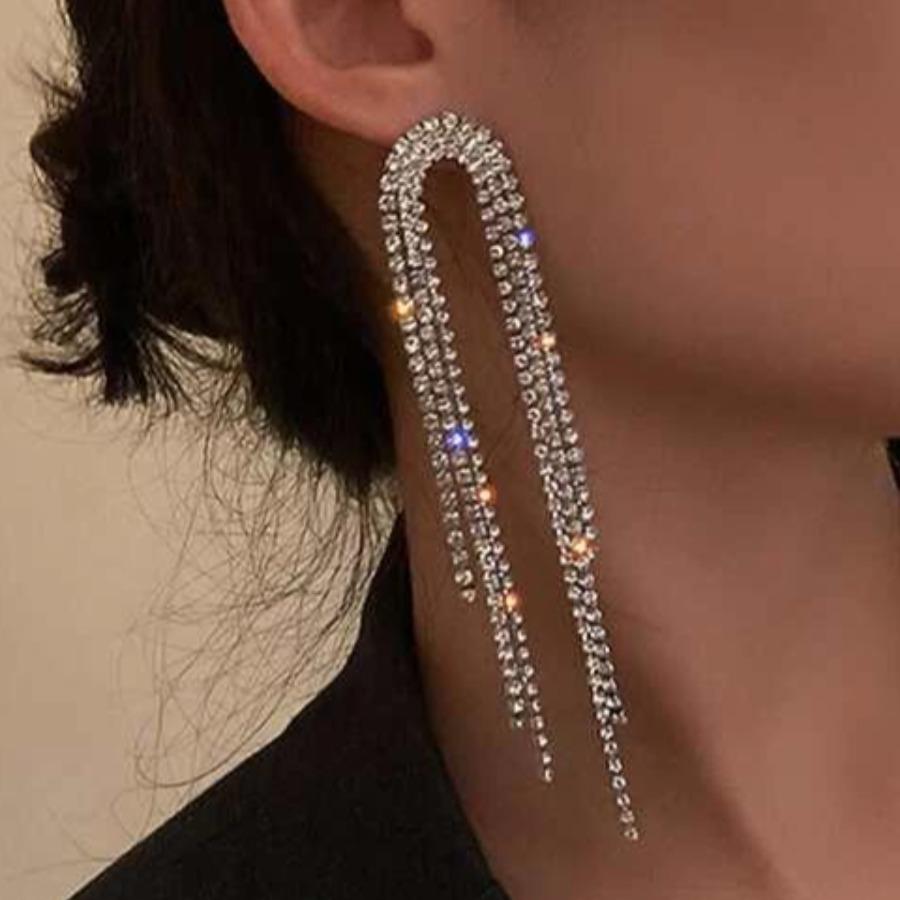 LW Sequined Tassel Design Earring