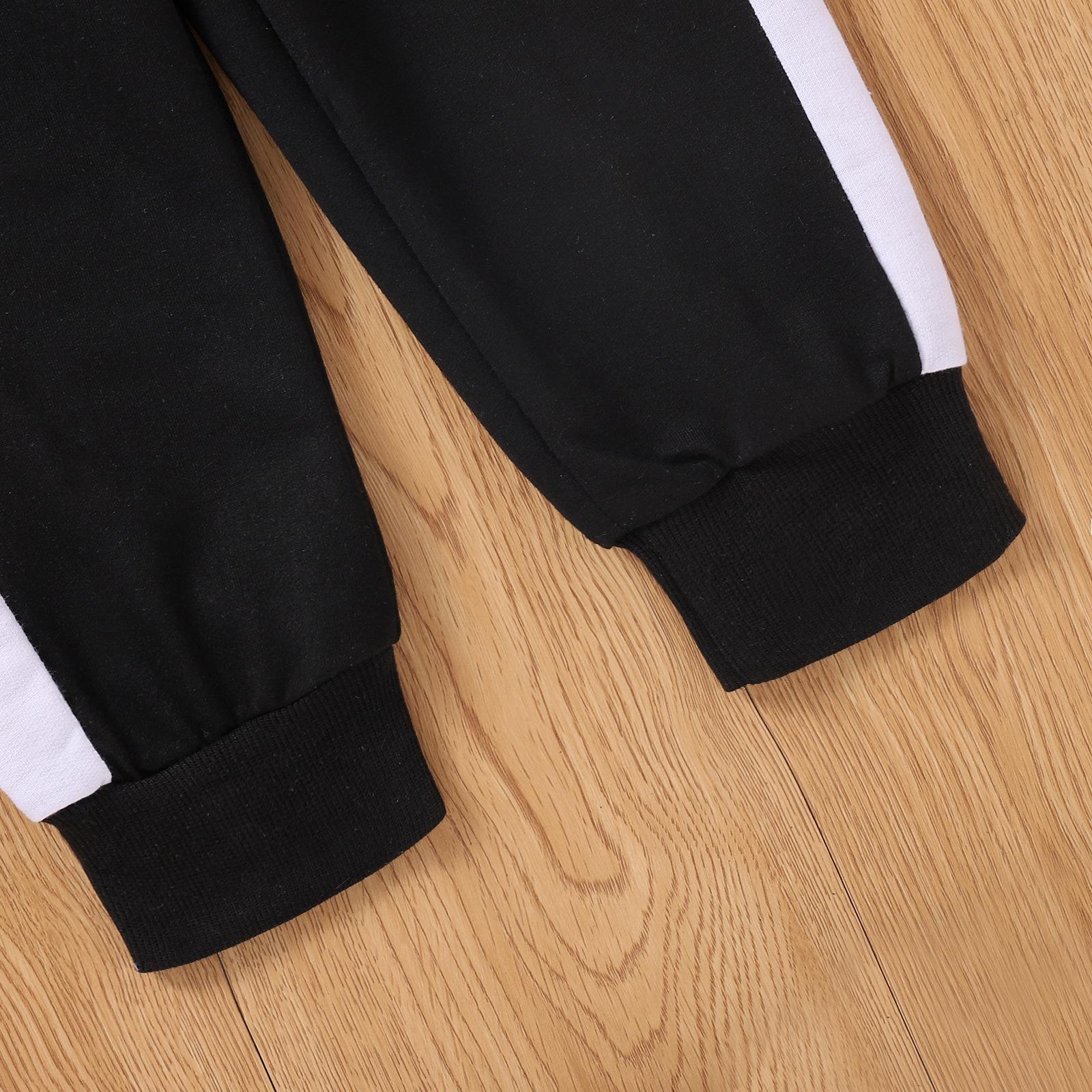 LW COTTON Boy  Material Series Striped Pants Set