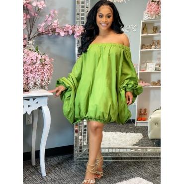 LW BASICS Off The Shoulder Fold Design Dress