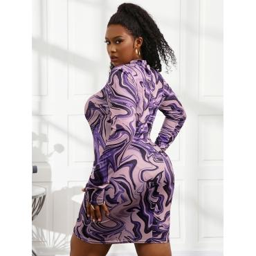LW Plus Size Round Neck Gradient Bodycon Dress