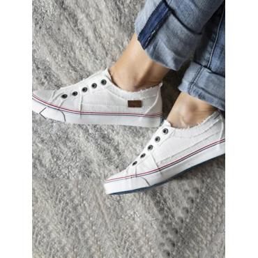 LW Striped Low Heel Flats