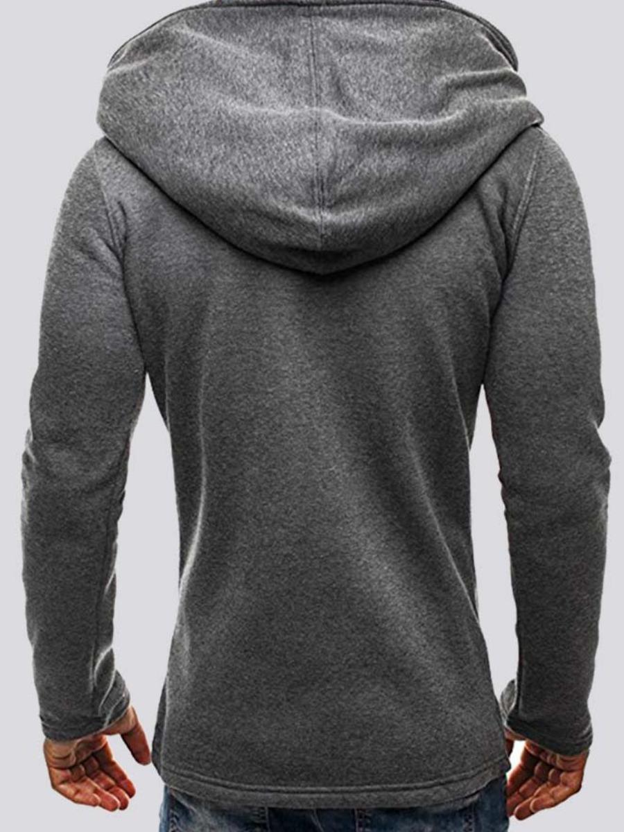 LW Men Multi Zipper Pocket Design Hoodie