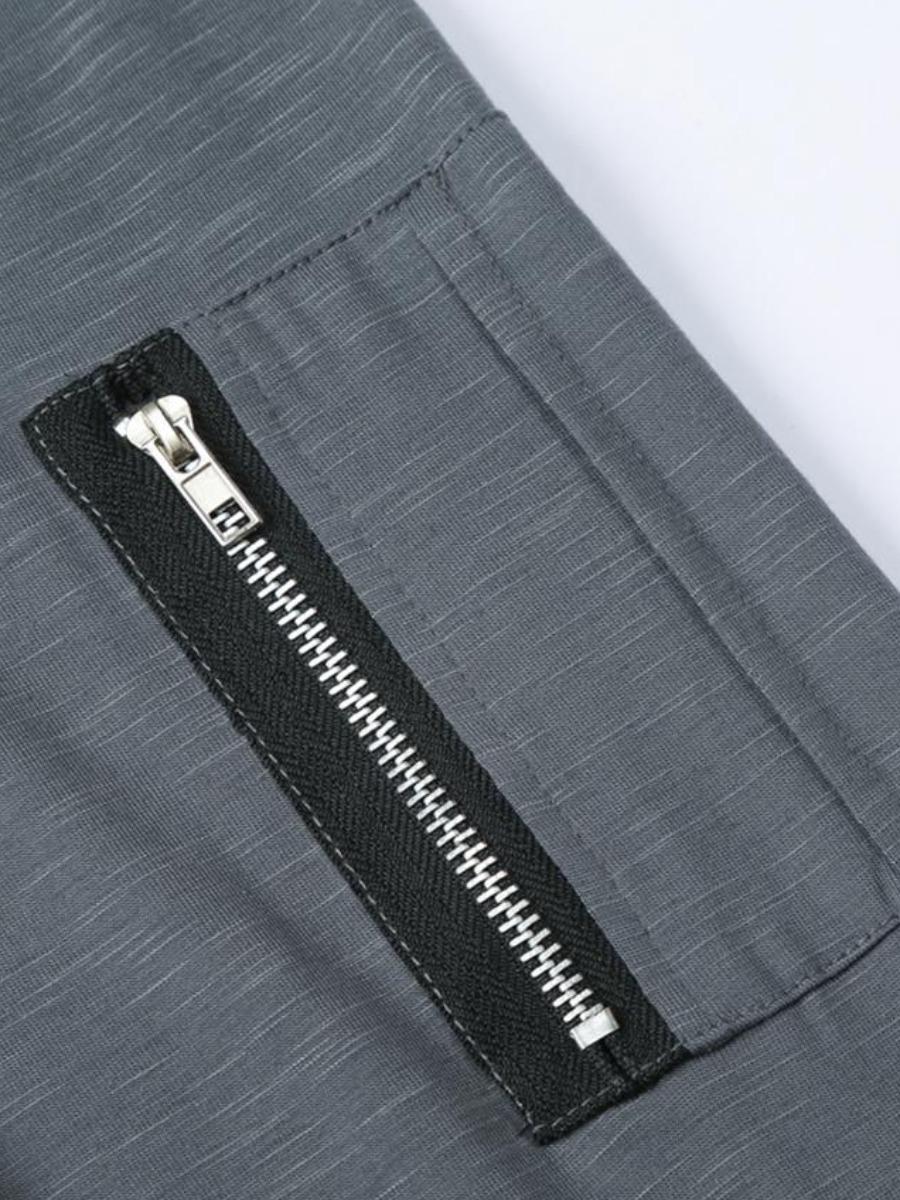 LW Men Zipper Pocket Design T-shirt