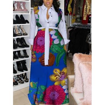 LW Floral Print Bandage Design A Line Dress