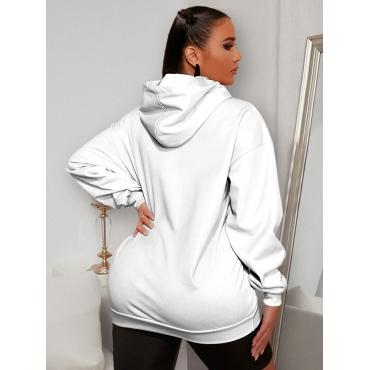 LW BASICS Sweat Letter Print Pocket Design Outerwear